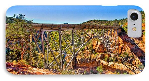 Midgley Bridge Sedona Arizona IPhone Case by Jon Berghoff