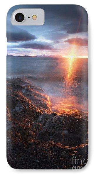 Midnight Sun Over Vågsfjorden IPhone Case by Arild Heitmann