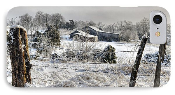 Midwestern Ice Storm - D004825 IPhone Case by Daniel Dempster
