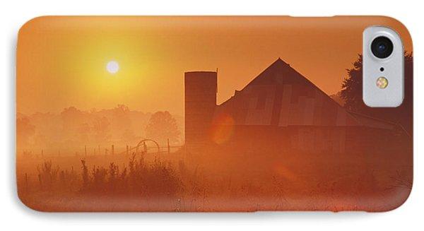 Midwestern Rural Sunrise - Fs000405 IPhone Case by Daniel Dempster