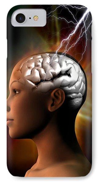 Migraine, Conceptual Artwork Phone Case by Victor Habbick Visions