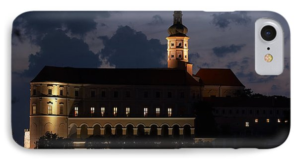 Mikulov Castle At Night Phone Case by Michal Boubin