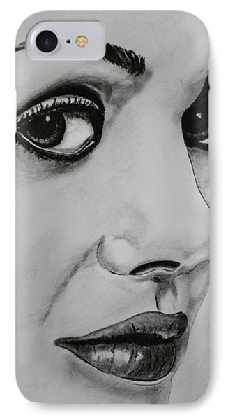 IPhone Case featuring the drawing Mila by Michael Cross