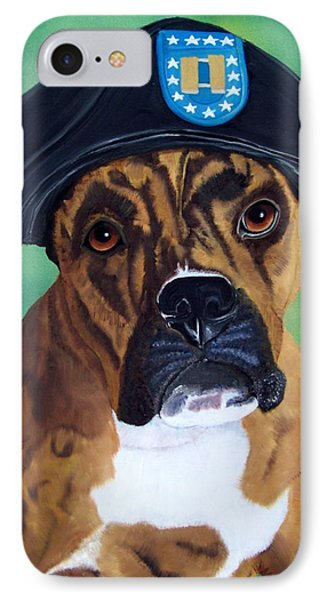 Military Boxer Phone Case by Debbie LaFrance