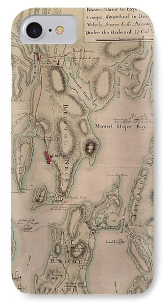 Military Plan Of The North Part Of Rhode Island Phone Case by English School