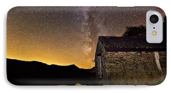 IPhone Case featuring the photograph Milky Way Above The Old Boathouse by Beverly Cash