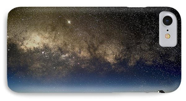 Milky Way And Observatories, Hawaii IPhone Case