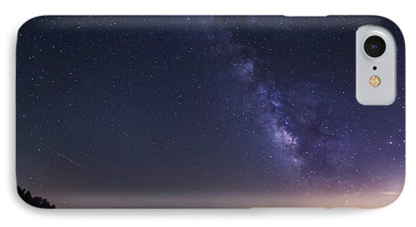 Milky Way And Perseid Meteor Shower Phone Case by John Davis