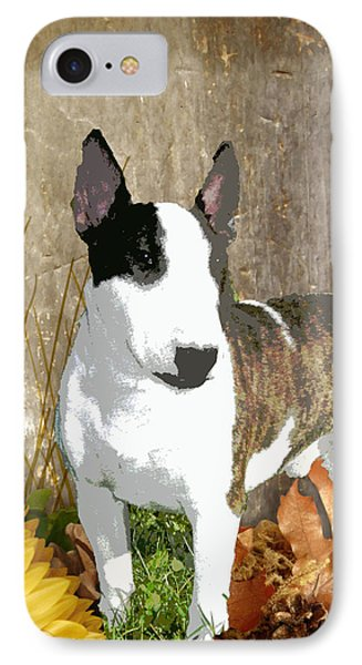 Minature Bull Terrier Phone Case by One Rude Dawg Orcutt