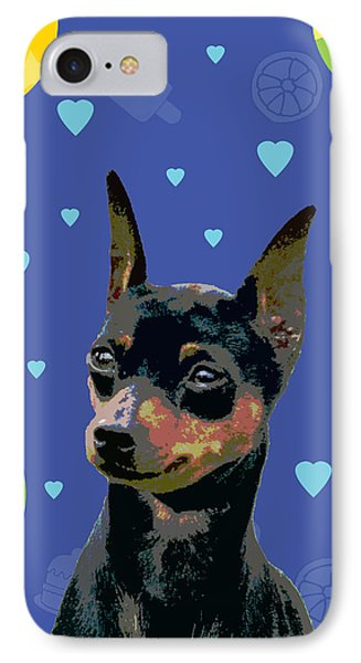Minature Pinscher Phone Case by One Rude Dawg Orcutt