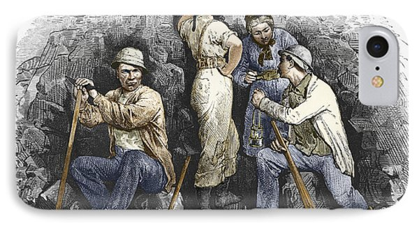 Miners And Their Wives, 19th Century Phone Case by Sheila Terry