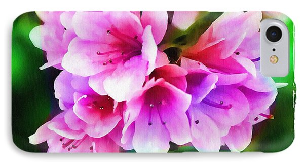 Miniature Azaleas IPhone Case by Judi Bagwell