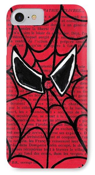 Minimal Spiderman Phone Case by Jera Sky