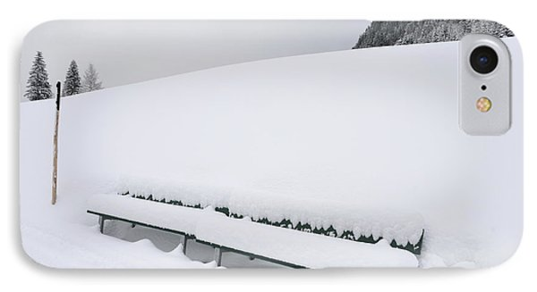 Minimalist Winter Landscape With Lots Of Snow Phone Case by Matthias Hauser