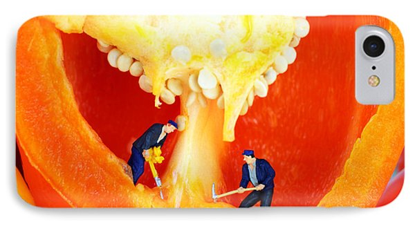 Mining In Colorful Peppers II Phone Case by Paul Ge
