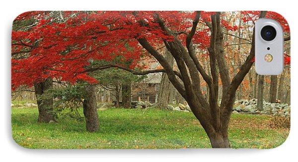 Minuteman National Historic Park Late Foliage IPhone Case by John Burk