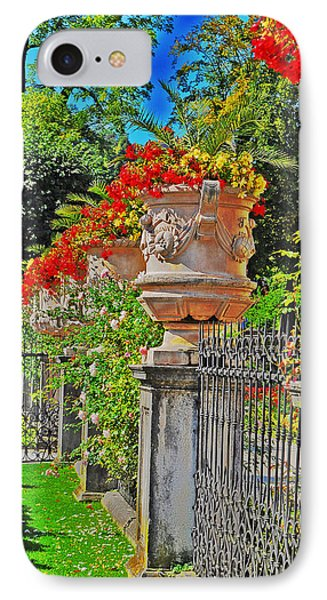 Mirabell Gardens In Salzburg Hdr Phone Case by Mary Machare