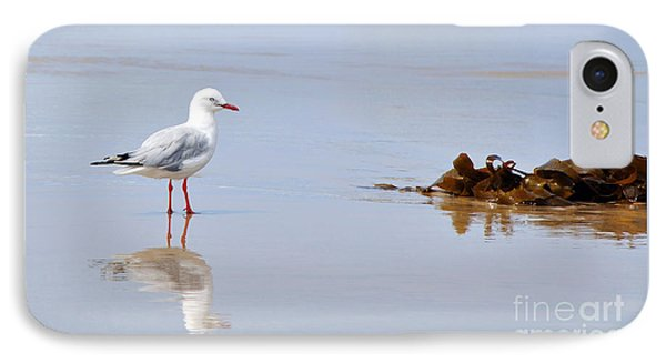 Mirrored Seagull Phone Case by Kaye Menner