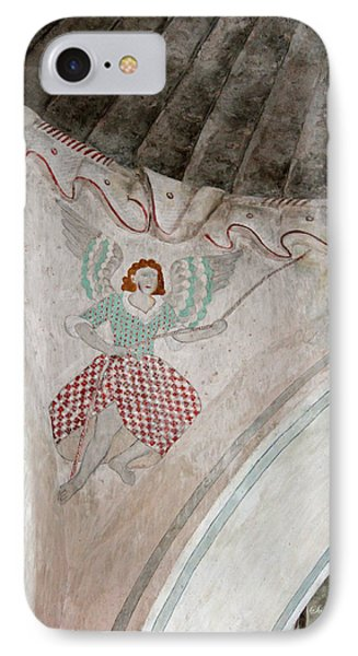 Mission San Xavier Del Bac - Painting Detail Phone Case by Suzanne Gaff