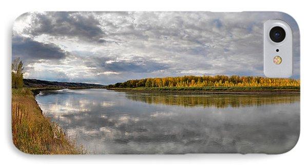 Missouri River Autumn Panoramic Phone Case by Leland D Howard
