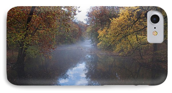 Mist Along The Wissahickon Phone Case by Bill Cannon