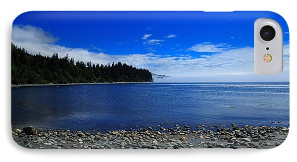 Mist On The Sea At Jordan River Phone Case by Louise Heusinkveld