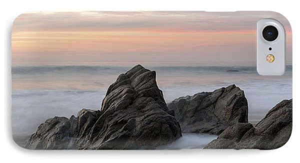Mist Surrounding Rocks In The Ocean Phone Case by Keith Levit