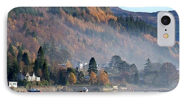 IPhone Case featuring the photograph Misty Autumn Morning by Lynn Bolt