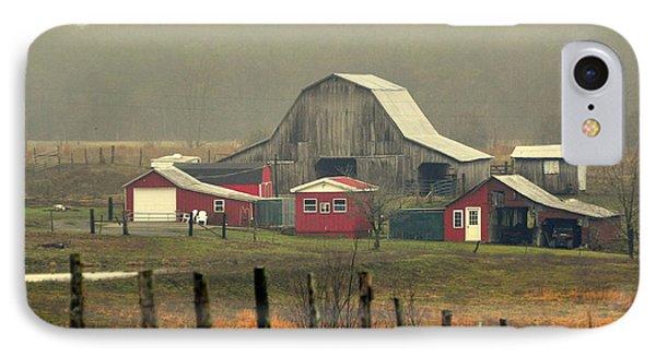 Misty Barn Phone Case by Marty Koch