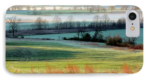 Misty Morning At Cades Cove Phone Case by Dave Mills