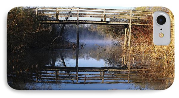 IPhone Case featuring the photograph Misty River Bridge by Gerald Strine