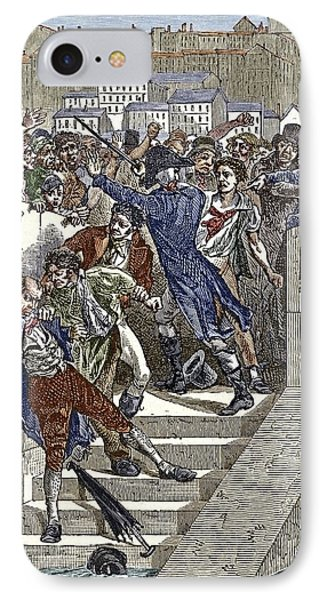 Mob Attacking Jacquard In Lyon, France IPhone Case