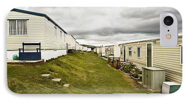 Mobile Home Park Dorset England Phone Case By John Boyes