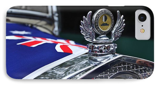 Model A Ford - Hood Ornament And Badge Phone Case by Kaye Menner