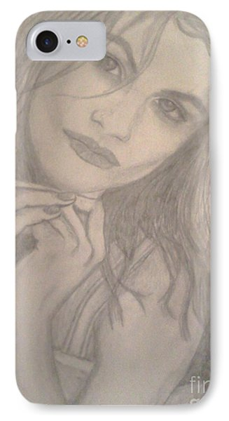 IPhone Case featuring the drawing Model by Christy Saunders Church
