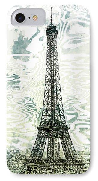 Modern-art Eiffel Tower 12 Phone Case by Melanie Viola
