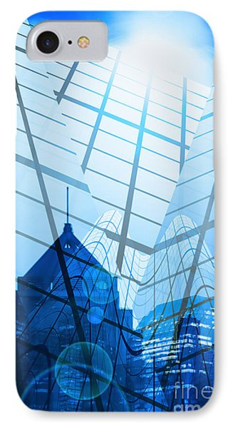 Modern City IPhone Case by Setsiri Silapasuwanchai