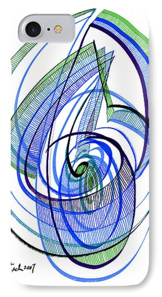 Modern Drawing 120 Phone Case by Lynne Taetzsch