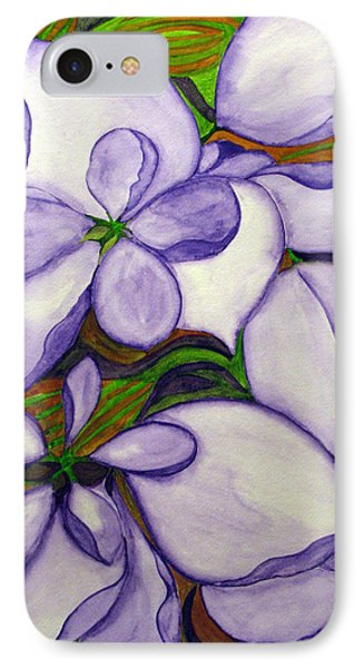 IPhone Case featuring the painting Modern Mussaenda by Debi Singer