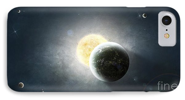 Moments Before A Total Eclipse IPhone Case by Tomasz Dabrowski
