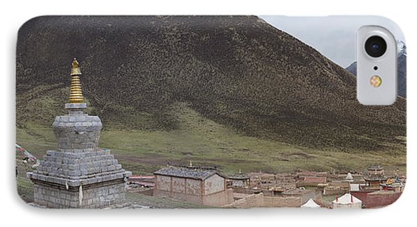Monastery Buildings In Mountain Valley Phone Case by Phil Borges
