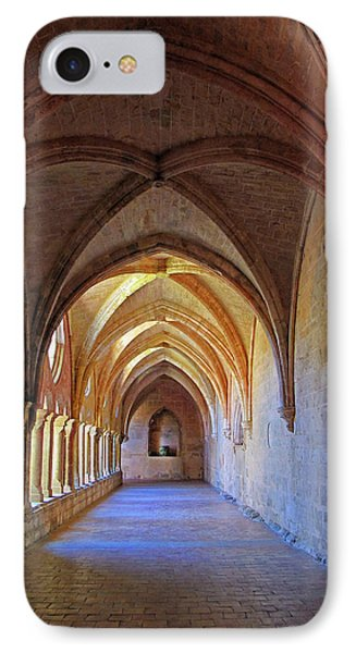 IPhone Case featuring the photograph Monastery Passageway by Dave Mills