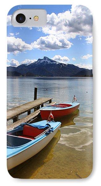 Mondsee Lake Boats Phone Case by Lauri Novak