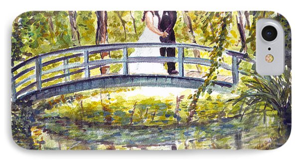 IPhone Case featuring the painting Monet Wedding by Clara Sue Beym