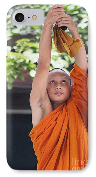 IPhone Case featuring the photograph Monk In The Bell Tower #2 by Nola Lee Kelsey