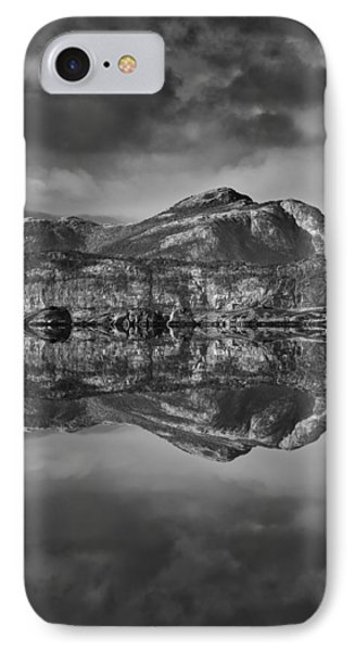 Monochrome Mountain Reflection IPhone Case