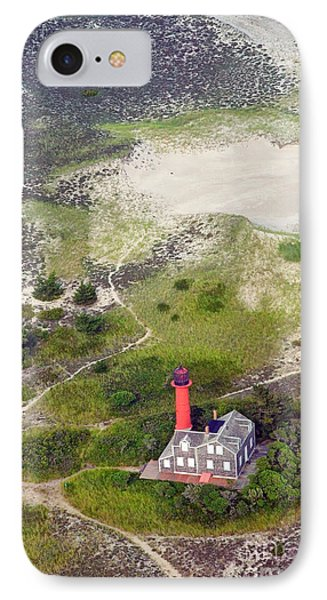 Monomoy Light At Monomoy Wildlife Refuge In Chatham On Cape Cod Phone Case by Matt Suess