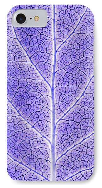 Monotone Close Up Of Leaf Phone Case by Sean White