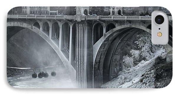 Monroe St Bridge 2 - Spokane Washington Phone Case by Daniel Hagerman