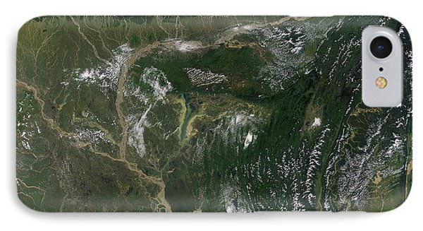 Monsoon Floods Phone Case by NASA / Science Source